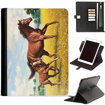 [macyskorea] Hairyworm - Brown Horse and Foal Apple iPad Air, iPad 5 leather side flip wal/12671782