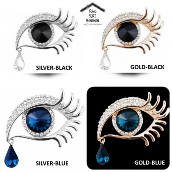 BR-002 Bros Pin Beauty EYES Aksesoris Wanita Fashion Brooch Women