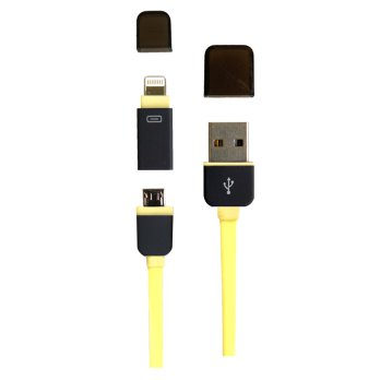 Kabel Data Line 2 in1 Perfect Kuning