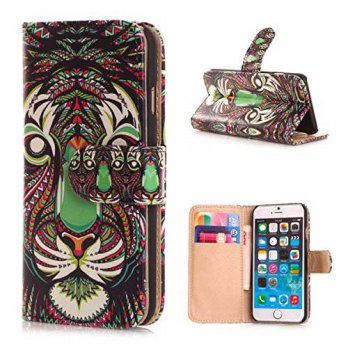 [holiczone] 4ZERO1 CASES Animal Image Design Magnetic Stand Flip Leather Wallet Folio Case/182449