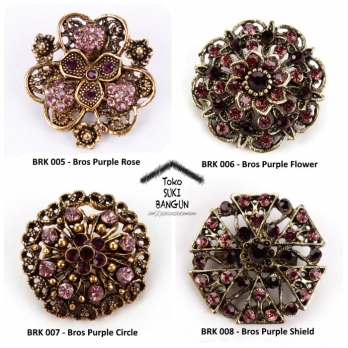 BRK 005-008 Bros Pin Mungil Bunga Wanita Fashion Flower Brooch Women