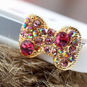 [holiczone] Eunichara Dust Plug - Cute colorful bow with many bling rhinestone for dust pl/101482