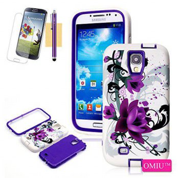 [holiczone] Galaxy S4 Case, OMIU(TM) [3 Layer Lotus Design] Hybrid Shock-Absorption Bumper/104949