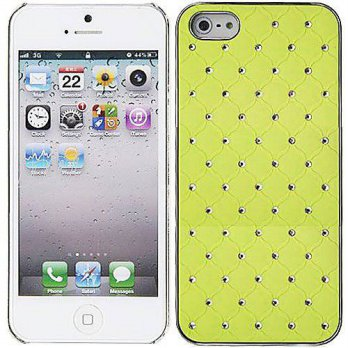 [holiczone] RM Trading Yellow Chrome Silver Bling Rhinestone Case Cover Diamond For Apple /107623
