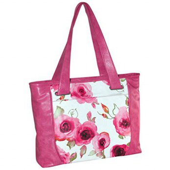 [holiczone] Buxton Floral Bouquet Tote Pink Heavy density foam padded pocket 15.6 laptop c/107991