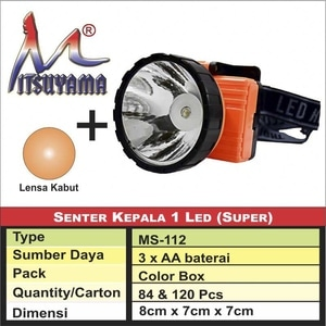Sente kepala 1 LED ( SUPER ) + lensa kabut MS-112