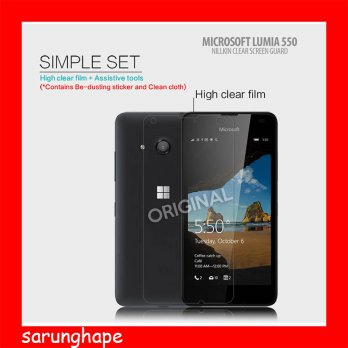Microsoft Lumia 550 Nillkin High Level Crystal Screen Guard Antigores