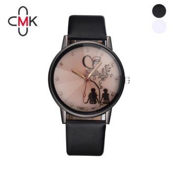 Women Leather Wristwatch Waterproof Analog Sport Quartz Wrist Watch