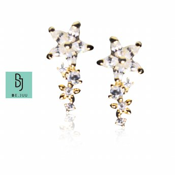 BE.JUU Anting Rising Stars Korean Jewelry | New Brass / Gold Plated