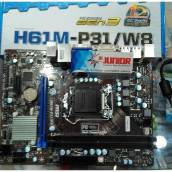 MOTHERBOARD MSI H61M-P31/W8 SOCKET 1155 NEW ( MURAH )