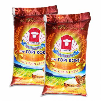 Beras Long Grain Topi Koki 20Kg - Rice