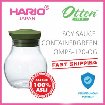 Hario Soy Sauce Container Olive Green OMPS-120-OG