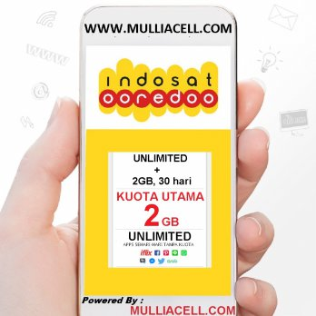 Indosat Regular 2GB + UNLIMITED, 30hr, BACA Deskripsi / Rincian Produk Seller [MULLIACELL]