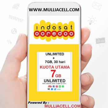 Indosat Regular 5GB JADI 7GB + UNLIMITED, 30hr, BACA Deskripsi / Rincian Produk Seller [MULLIACELL]