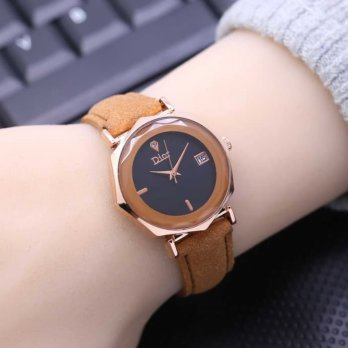 Jam Tangan Wanita / Cewek Murah Dior Prisma Leather Light Brown