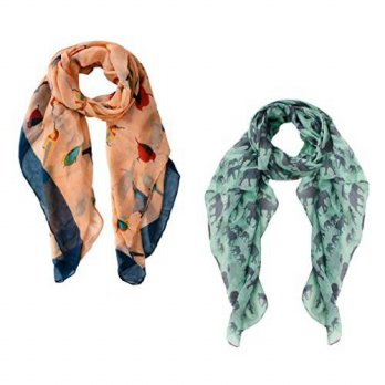 [macyskorea] Peach Couture Womens Abstract Desgin Scarves Value Pack of 2 Tangerine Green/12669798