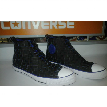 Sepatu converse edisi Anyam leather High Black Electrik murah