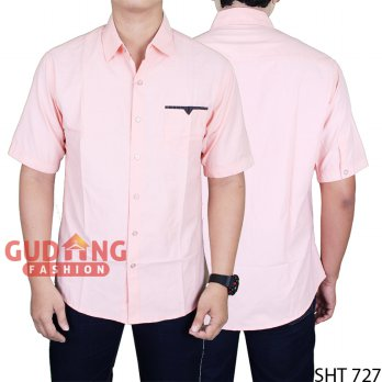 Short Sleeve Slim Fit Casual Man Shirts SHT 727