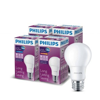 Lampu LED Bulb Philips 10,5W Paket 3 free 1