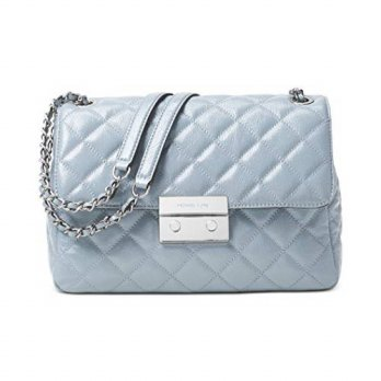 [macyskorea] Michael Kors Sloan Extra Large Chain Shoulder Bag Dusty Blue/12666883