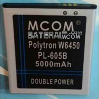 Baterai Battery Double Dobel Power Polytron Rocket Star W6450 (PL605B) Mcom 5000Mah