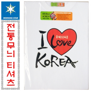 SF Country Love T-shirt (Heart Korea) Traditional Pattern / Attractions / Foreign Gifts / Cotton / Korea / South Korea / Pattern / Souvenir / Promotional / T