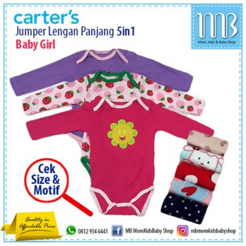 [Recommended] Jumper Carter 5in1 (Lengan Panjang) for Baby Girl