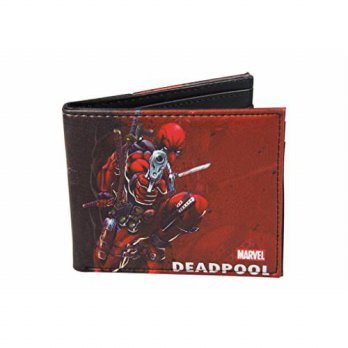 [Macyskorea] Fashion Wallets Superhero Deadpool Mens Extra Capacity Leather Folder Wallet / 10981001