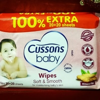 Cussons Baby Wipes Soft  Smooth (20+20 sheets)