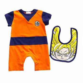 Romper dragon ball for baby dengan bibip