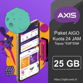 Voucher Axis Data AIGO 25GB 24Jam 60Hari