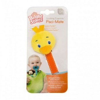 (Best Seller) Bright Starts - Paci Mate YELLOW