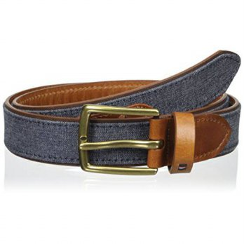 [Macyskorea] Tommy Hilfiger Mens 32mm Panel With Denim Belt, Denim, 36/11098134