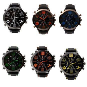 Men's Fashion Silicone Watch Strap Of The Large Dial Silicone Watch