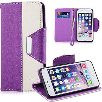 [holiczone] iPhone 6 Plus Case, iPhone 6S Plus Case,Vakoo Wallet Leather Folio Slim Fit So/145583