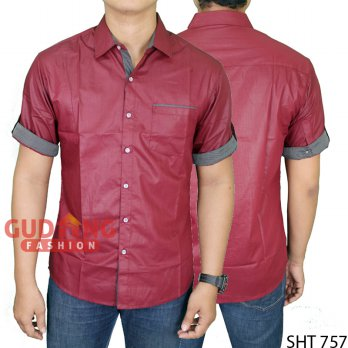 Mens Casual Short Sleeve Stylish Slim Fit Shirts SHT 757