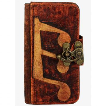 [holiczone] A Little Present Music Note Apple Iphone 5 Leather Case Cover Vintage Handmade/159432