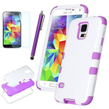 [holiczone] Galaxy S5 Case, ULAK 3-piece Shock Absorbing Dual Layer Protective Case with S/158019