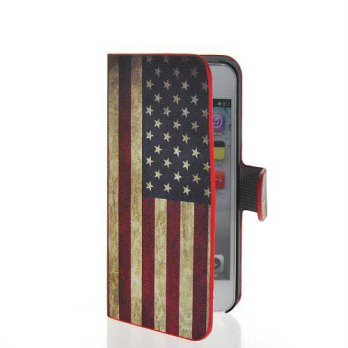 [holiczone] Cerhinu MOONCASE U.S American Flag Slim Flip Wallet Card Stand Pouch Leather C/160402