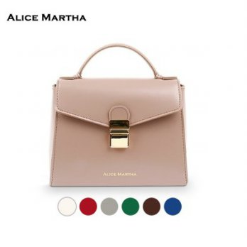 MIDAS SHOULDER BAG / Leather Korea Bags / Tas / Indy Pink / Black [Alice Martha]