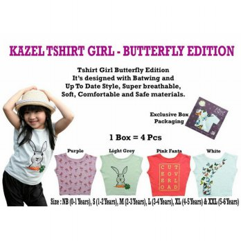 [Star Product] Kazel - TShirt Girl Butterfly Edition MEDIUM