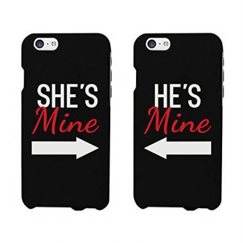[holiczone] 365 Printing Shes Mine, Hes Mine Matching Phone Cases for iphone 4, iphone 5, /161084