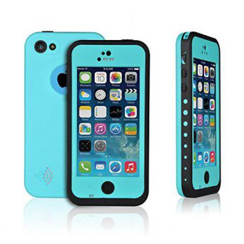 [holiczone] AMBM Teal New Arrival iPhone 5C Hard Shell Waterproof Cell Phone Protective Ca/163076