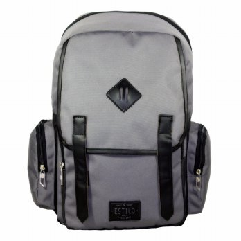 Tas Ransel Laptop Retro Vintage Series Estilo 740005 Grey + Raincover