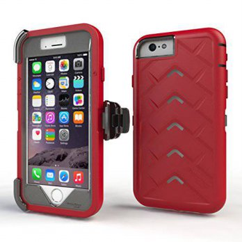 [holiczone] Apple iPhone 6 Tech Royal Red Grey GumCases Silicone Rugged Shock Absorbing Pr/168415