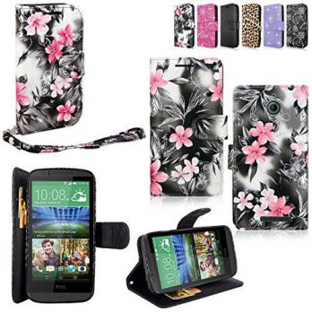 [holiczone] CellularVilla HTC Desire 510 Case - Cellularvilla Pu Leather Wallet Card Flip /173972