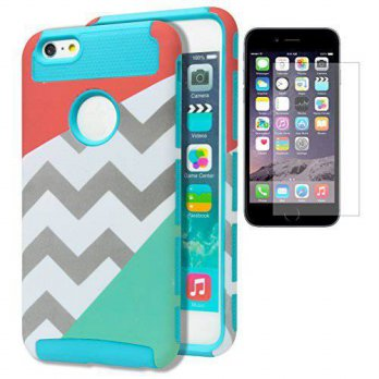 [holiczone] iPhone 6 Plus Case, Bastex Hybrid Deluxe Gray and White Chevron Case Splitting/87295