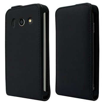 [holiczone] Cbus Wireless Black Flip Leather Folio Case Pouch Holder w/ Hard Shell Cover f/90522
