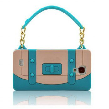 [holiczone] I Need niceEshop(TM) Baby Blue/Beige Tote Handbag W/Gold Chain Silicone Soft C/92879