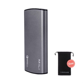 MiLi Power Miracle III Powerbank Quick Charging 3.0A Free Delcell Pouch Universal